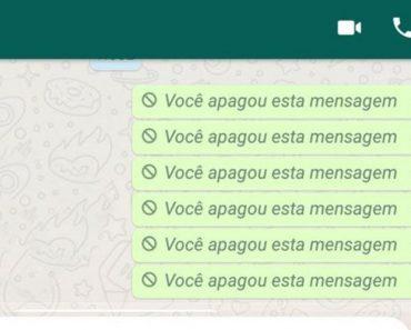 Mensagens Apagadas do Whatsapp